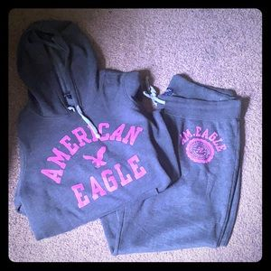 American eagle hoodie and sweat set!